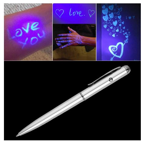 Magic Invisible Ink - Spy Pen - Secret Glow in Dark