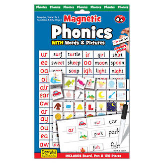 Phonics with Words & Pictures Magnetic Play - Fiesta Crafts