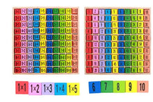 Load image into Gallery viewer, Wooden Multiplication Table Math Learning