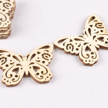Load image into Gallery viewer, Craft-it. Wooden Creativity Hollow out Butterfly Pattern (10pcs)