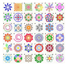 Load image into Gallery viewer, Mandala Small Template Stencils Art/Rock Painting - 1 Set(36)