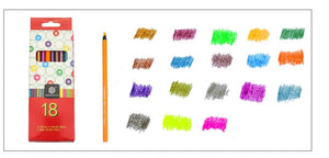 Fluorescent Neon/Metallic Colour Pencils - 18 Colours