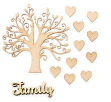 Load image into Gallery viewer, Craft-it.  Wooden Blank Family Tree Set.