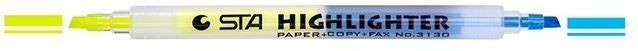 Highlighters Dual Tip Fluorescent - Yellow + 6 colours available