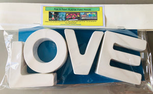 Pick N Paint Plaster Paris Moulds  -  LOVE (Handmade in NZ)