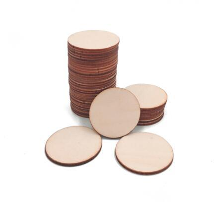 Craft-it. A Natural Blank Wood Piece Slice Round Unfinished Wooden