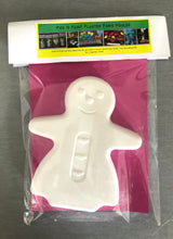 Load image into Gallery viewer, Pick N Paint Plaster Paris Moulds  - GINGERBREAD MAN (Handmade in NZ)