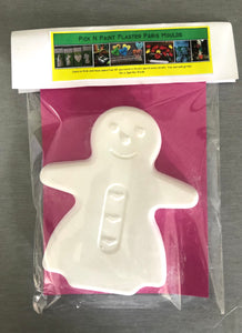 Pick N Paint Plaster Paris Moulds  - GINGERBREAD MAN (Handmade in NZ)