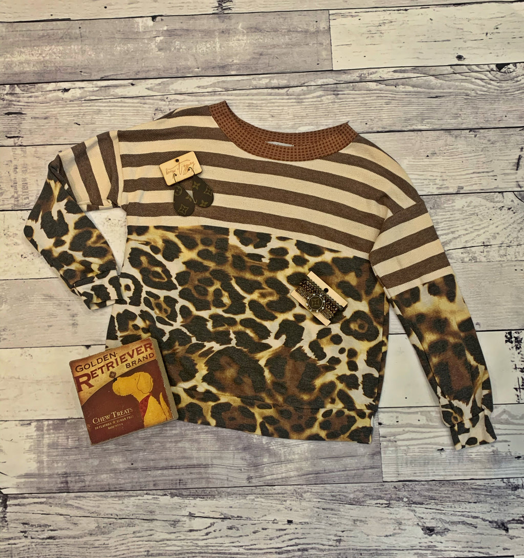 Leopard & Stripes Brown