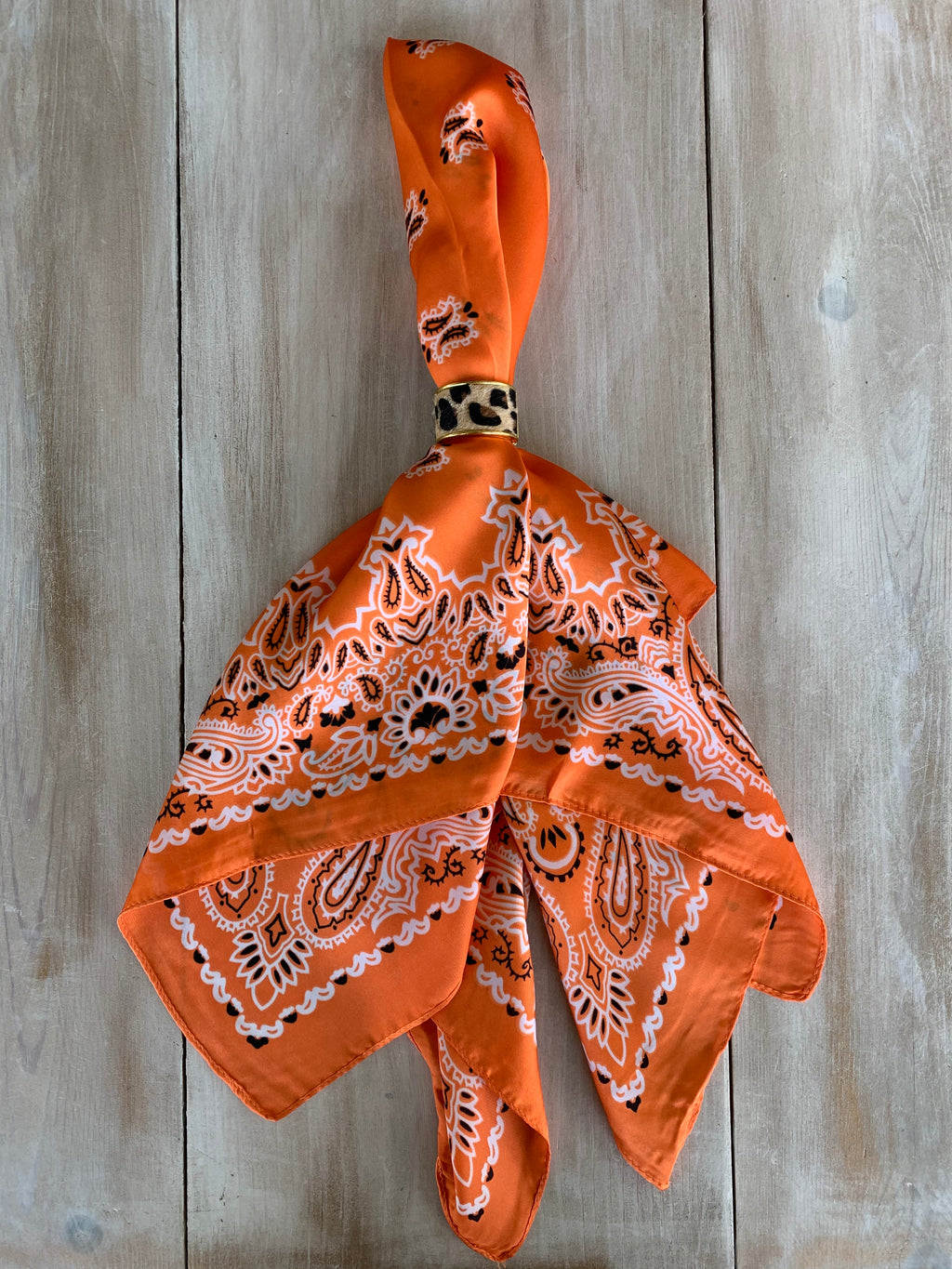 Orange Bandana Neckerchief