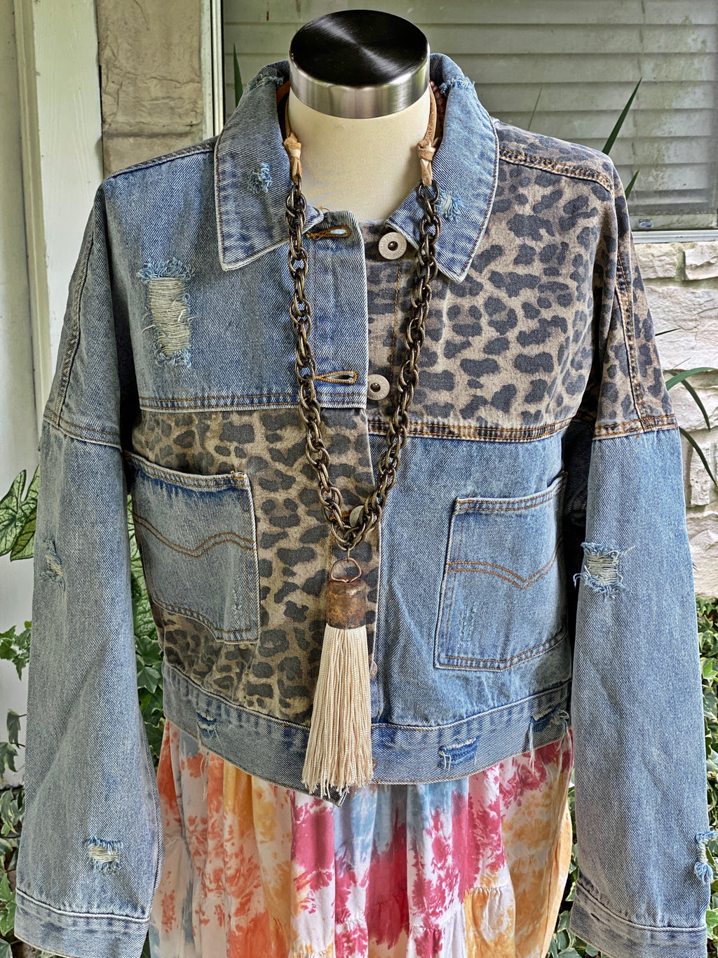 Leopard & Denim Jacket