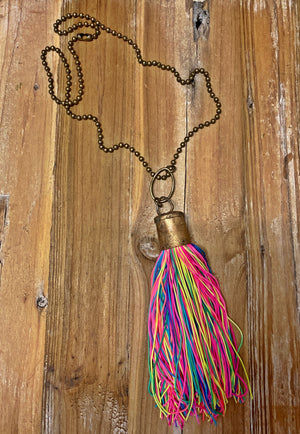 Electric Tassel Necklace