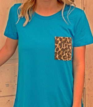 Leopard Pocket Top