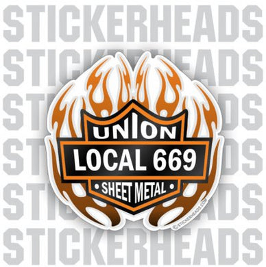 Baker Badge with flames    - Sheet Metal Workers Sticker