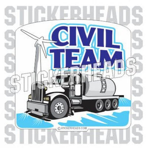 Civil Team with truck and wind mill - Sticker Wind mill turbine