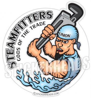 Gods Of The Trade   - Steamfitter Steamfitters Sticker