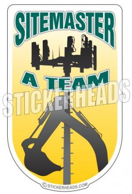 Site master - A TEAM - Heavy Equipment - Crane Operator Sticker