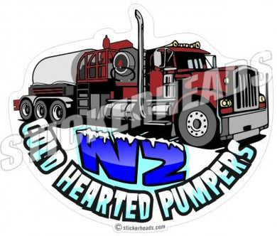 N2 Cold Hearted Pumpers - Pump Truck  -  Natural Gas Well Frac Frac'er Fracing - Sticker