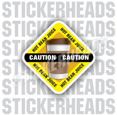 Caution: Hot BEAN JUICE - Coffee Tumbler Sticker