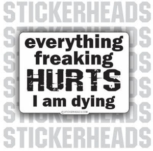 Everything Freaking HURTS  - Funny Sticker