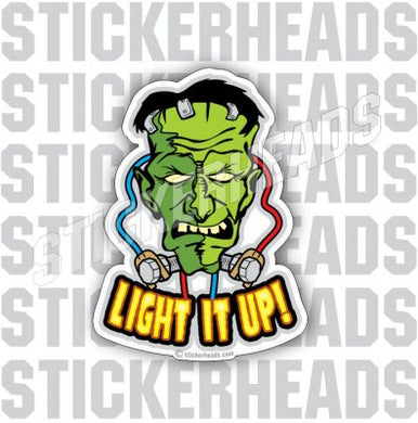 Franky Frankenstein - Cartoon  Light it up - IBEW  Electrical Electric Sticker