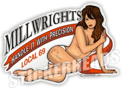 Handle With Precision -  Millwright Millwrights  - Sexy Chick - Sticker