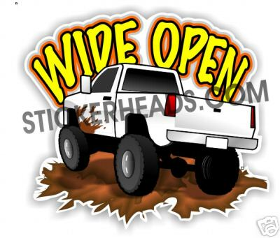 Wide OPEN  - 4x4 Auto Truck Jeep Mud Sticker