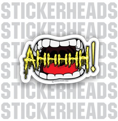 Ahhhhh ! Screaming Mouth - Funny Sticker