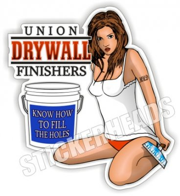 Know How to Fill the Holes - Sexy Chick - Drywall Finishers Installer Sticker