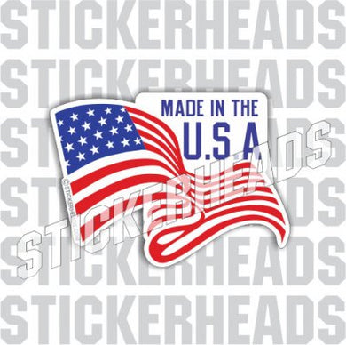 Made In The U.S.A. American Flag  - USA Flag Sticker