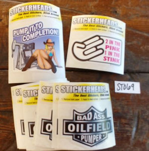 "⭕#ST069 -Oilfield  12-3"" Sticker Pack   