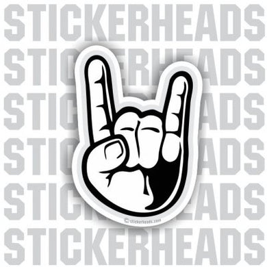 Rock On hand sign - Funny Sticker