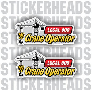 Crane Boom with Local - custom text  - Crane Operator Sticker
