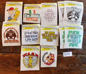 "⭕#ST041- Welder  - 12-3"" Sticker Pack   