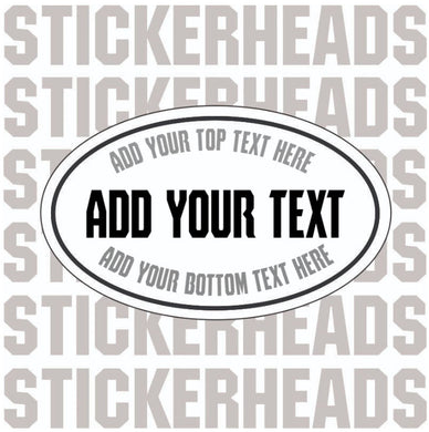 Oval Euro Sticker - Add Your Own Custom Text - Make Your Own Sticker