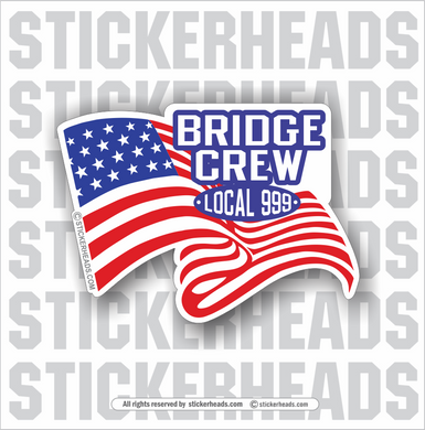 USA Waving Flag - Bridge Crew wih local -   Incentives Sticker