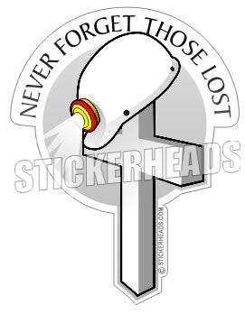 Never forget those lost - cross - Coal Miners Mining Sticker
