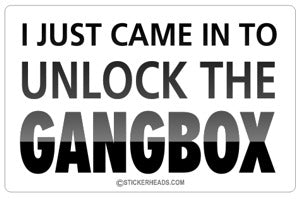 Unlock Gang Box - Work Job  - Sticker