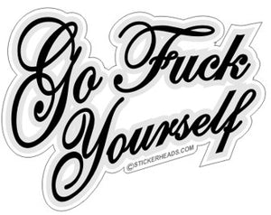 Go Fuck Yourself script    - Funny Sticker