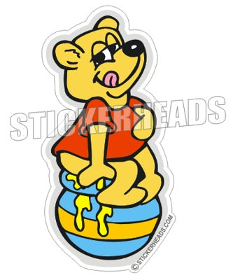 Honey Pot Bear - Funny Sticker