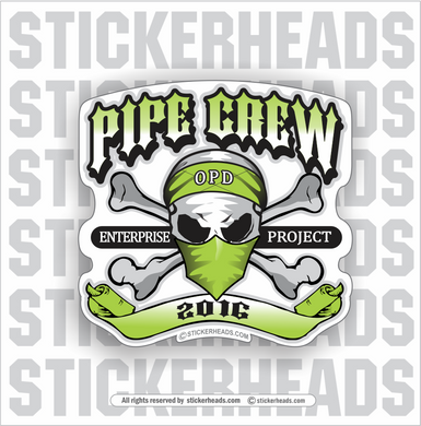 Pipe Crew Skull -  Incentives Sticker