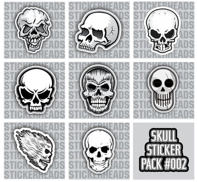 SKULL PACK #002 - Skull Sticker Pack