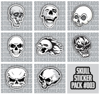 SKULL PACK #003 - Skull Sticker Pack