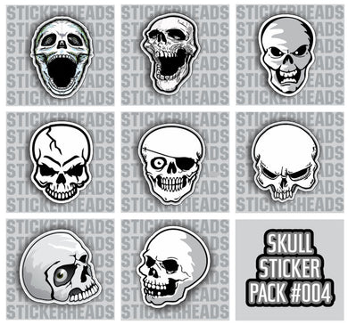 SKULL PACK #004 - Skull Sticker Pack