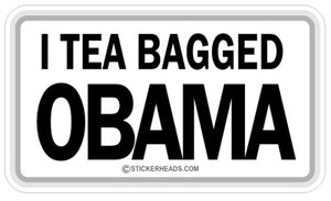 Tea Bagged Obama - Funny Sticker