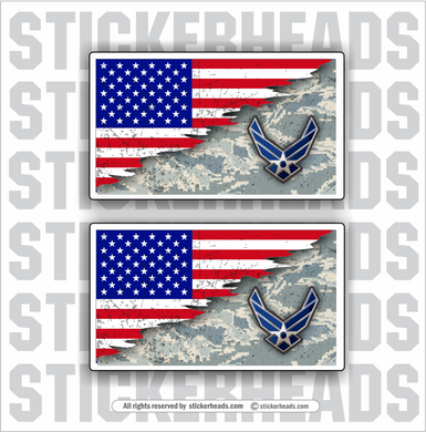 AIR FORCE - REVEAL Flags  - USA Flag Sticker