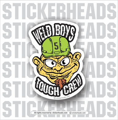 Weld Boys Tough Crew - Fink Cartoon Head -   Incentives Sticker