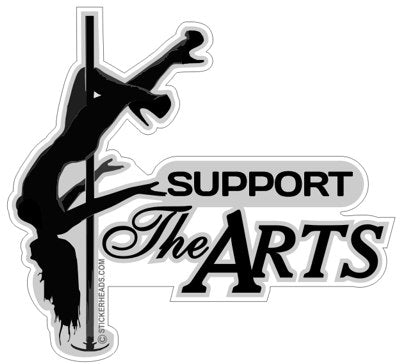 Support The ARTS  -  Sexy Chick Sticker