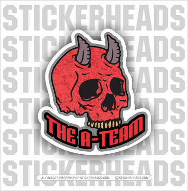 The A Team - Red Devil Skull -  Work Job - Sticker