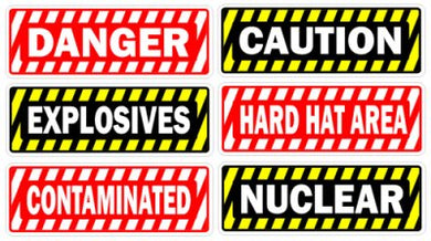 Toolbox Warning Danger Sticker Pack #1 ( 6 stickers ) Misc Union work